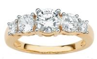 anniversary diamond rings with side stones