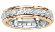 White gold channel set diamond ring