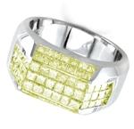 Mens yellow diamond ring