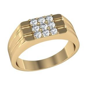 As men buy diamonds, this square shaped rings is a beauty