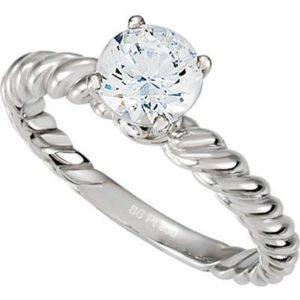 Simple but elegant round diamond engagement rings