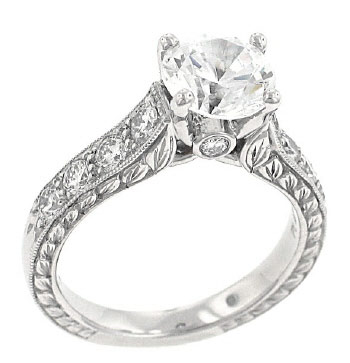 As you buy diamonds, this round shaped ring with amazing detail is a keeper
