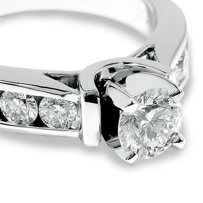 A 2 carat diamond ring with side stones