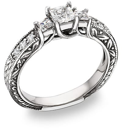 Inspired by history with a new twist; antique diamond rings