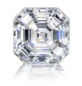 An asscher cut diamond
