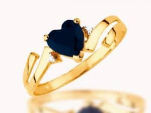 Heart shaped black diamond engagement rings