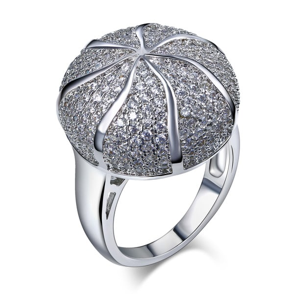 Mushroom shaped custom diamond ring