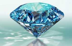 Blue round shaped diamond