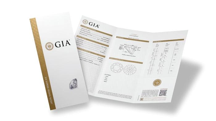 A diamond grading certificate