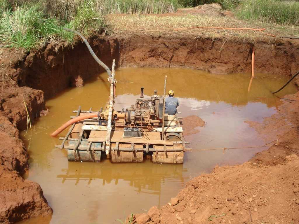 Alluvial diamond mining process method