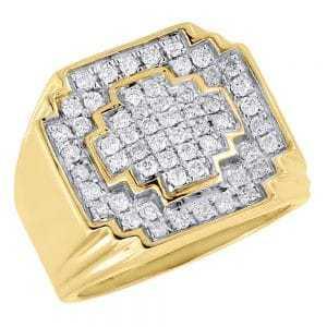 diamond pinky rings