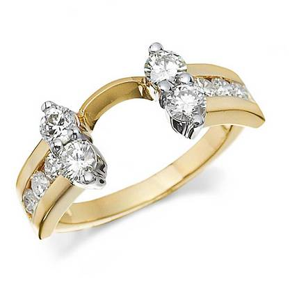 diamond ring wrap with round shaped stones
