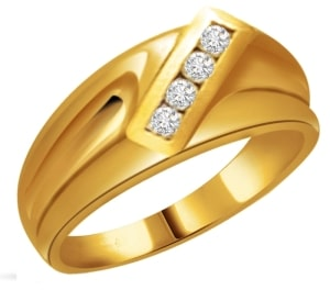 mens gold diamond engagement ring