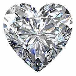 Heart shaped diamond cut