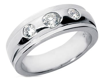 White gold mens diamond wedding rings