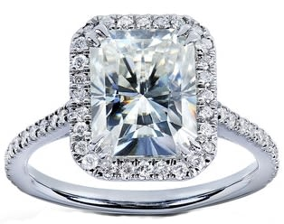 Fire to spare in moissanite wedding rings