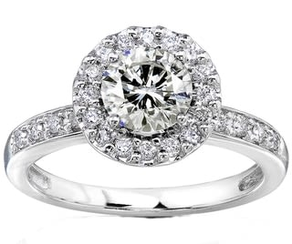 A very rare mineral on your finger in moissanite wedding rings