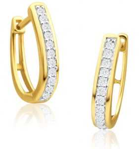 Huggie diamond earrings
