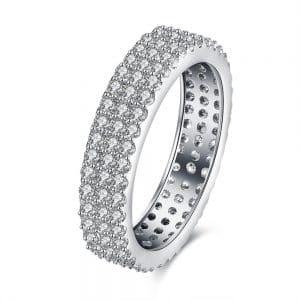 Unique pave diamond engagement ring