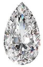 Pear shaped diamond cut