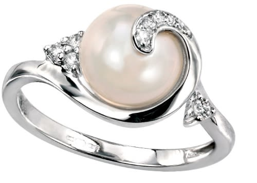 pearl diamond rings