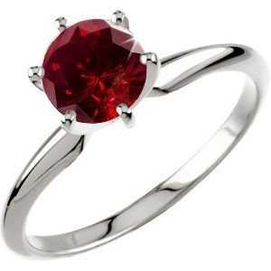 Solitaire red diamond ring