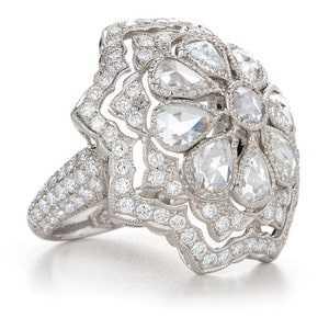 diamond flower rings