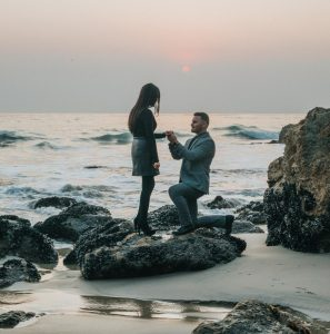 engagement proposal by the sea