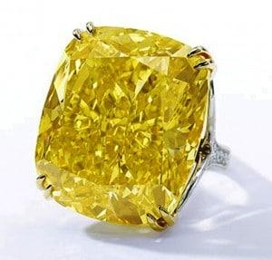 The Vivid Yellow Diamond Ring